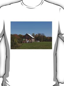 Roadside Gems - Sign Covered Wooden Barn T-Shirt