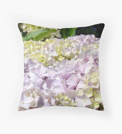 Floral Hydranges Flower Pink Lavender Garden Baslee Throw Pillow