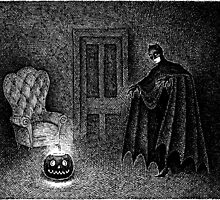 The Ghostly Lantern featuring The Bat-Man by JELarson