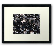 Black jet beads Framed Print