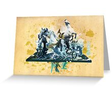 The White Queen-Knight's Pawn Greeting Card