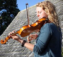 Sunlit Violin by julestownsend