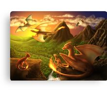 Charizard Valley Canvas Print
