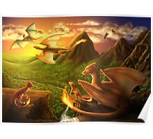 Charizard Valley Poster