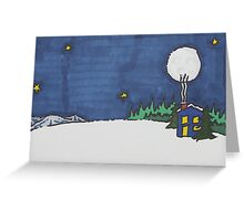 Warming Hut Greeting Card