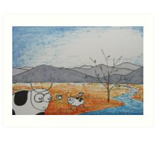 High Plains Cattle Art Print