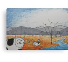 High Plains Cattle Canvas Print