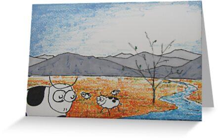 High Plains Cattle by Paul Simms