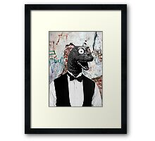 Bow-tie Dinosaur  Framed Print