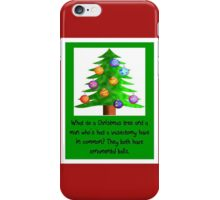 Vasectomy - Christmas Ornamental Balls iPhone Case/Skin