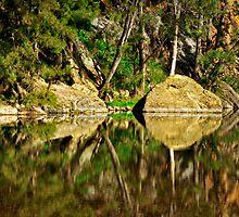 Turon River reflections by Geraldine Lefoe