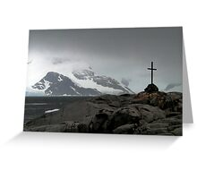 Cross on the White Continent Greeting Card