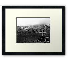 Death in isolation Framed Print