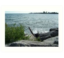 A peaceful day at Parklawn, Toronto Art Print