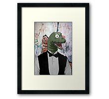 Colour Bow-tie Dinosaur  Framed Print