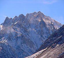 Snow blowing off Mt. Tom - Eastern Sierra by Jean  Atwood