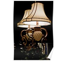 Lamp In Reflection Poster