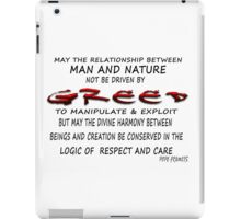 From Greed to Enlightenment iPad Case/Skin