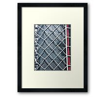 Cross Hatched Reflections Framed Print