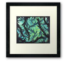 Depth of Green Framed Print