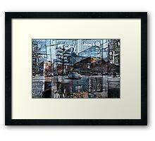 toronto live - Queen Street Framed Print