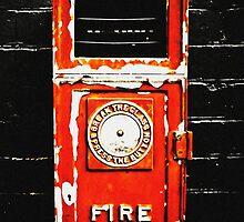 Card - Alarmed! (B/rat Train Station) by Justin Ashleigh Jones