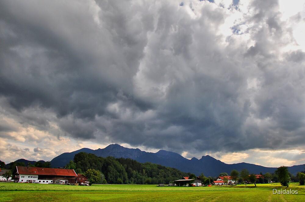 Dark Sky over Mountains by Daidalos