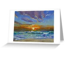 Malibu Beach Sunset Greeting Card