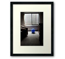 blue ball... Framed Print