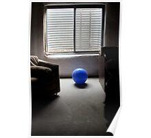 blue ball... Poster