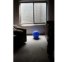 blue ball... Photographic Print