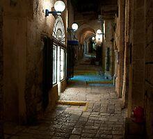 Crooked street in Jaffa by Rob Schoon