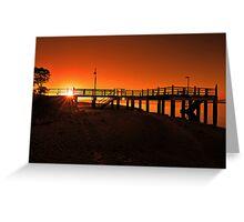 Sunrise at Baxters Jetty, Shorncliffe. Brisbane, Queensland, Australia. Greeting Card
