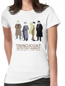 Trenchcoat Detective Agency Womens Fitted T-Shirt