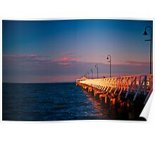 Sunset at Shorncliffe peir Poster
