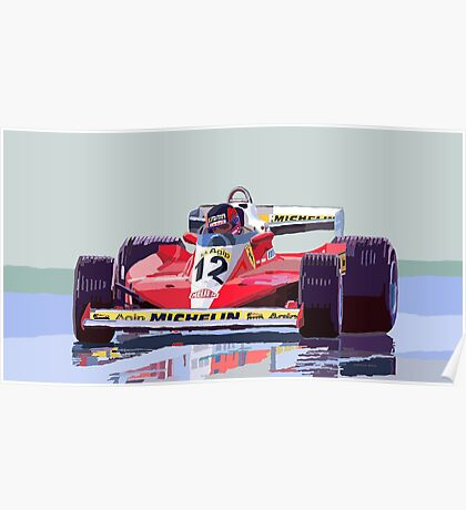 Ferrari 312 T3 1978 Canadian GP Poster