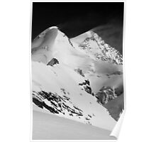 snow blowing from summit of Castor Poster