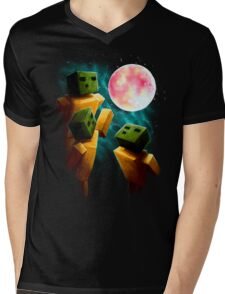 3 Sp00ns and a Moon Mens V-Neck T-Shirt