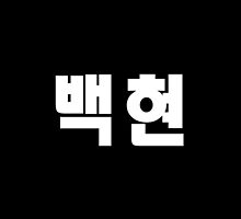 EXO Baekhyun Kpop Hangul Korean Name White by impalecki