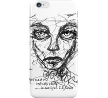 Scribble Face - CS Lewis iPhone Case/Skin