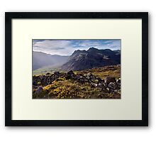 The Langdale Pikes from Side Pike Framed Print