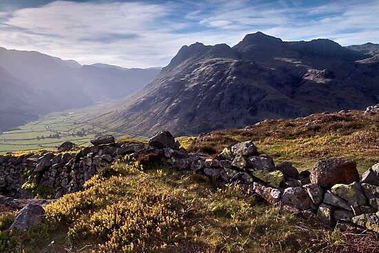 The Langdale Pikes from Side Pike by Dave Lawrance