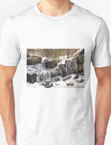 Icicles Decorate The R. B. Ricketts Waterfall T-Shirt