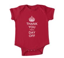 THANK YOU for a DAY OFF - Queen's jubilee One Piece - Short Sleeve