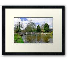 Sheepwash Bridge, Ashford-in-the-Water Framed Print