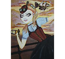 Steampunk Vampire Photographic Print