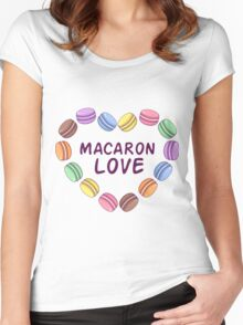 Macaroon pattern Women's Fitted Scoop T-Shirt
