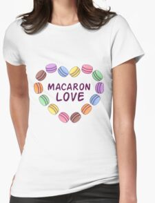 Macaroon pattern Womens Fitted T-Shirt