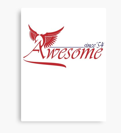 Awesome Since 1954 Canvas Print