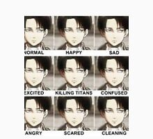 Attack on titan - Levi faces Unisex T-Shirt